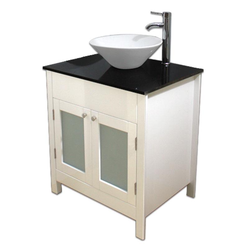 750mm幅白いピアノ塗装カントリースタイル洗面台とガラス洗面カウンターと洗面ボール水栓セット Ambest WP9571 洗面ボウル/洗面化粧台/収納/洗面台/洋風/お洒落な/手洗い鉢/棚