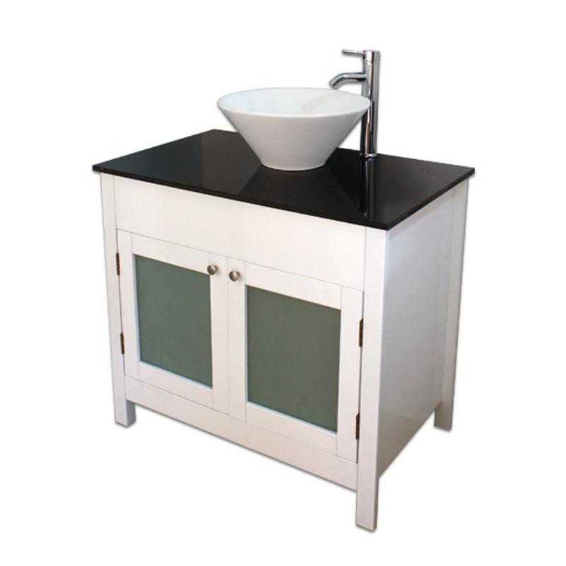 900mm幅白いピアノ塗装カントリースタイル洗面台と黒いガラスカウンターと洗面ボール水栓セット Ambest WP9591 洗面ボウル/洗面化粧台/収納/洗面台/洋風/お洒落な/手洗い鉢/棚