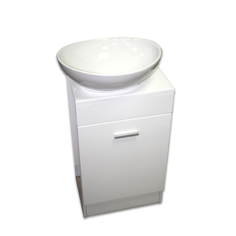 【送料無料】白陶器楕円形手洗器洗面ボウルと白床置きキャビネット Ambest WT35N3 手洗い鉢/洗面ボール/洗面シンク/収納/洗面台/新築/改築/建て替え/リフォーム/水まわり