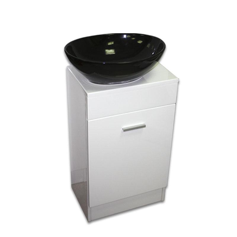 【送料無料】黒陶器楕円形手洗器洗面ボウルと白床置きキャビネット Ambest WT35N4 手洗い鉢/洗面ボール/洗面シンク/収納/洗面台/新築/改築/建て替え/リフォーム/水まわり