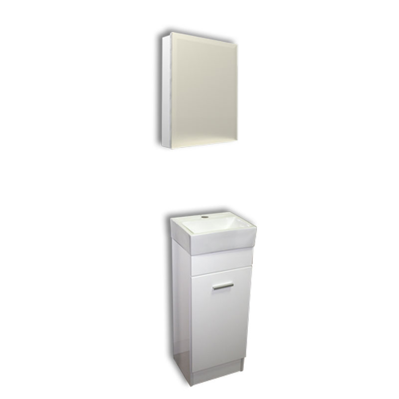 【送料無料】白小角形手洗器と白床置きキャビネットとミラー鏡棚付収納 Ambest WT733H 手洗い鉢/洗面ボール/洗面シンク/洗面台/化粧台/新築/改築/建て替え/リフォーム/水まわり