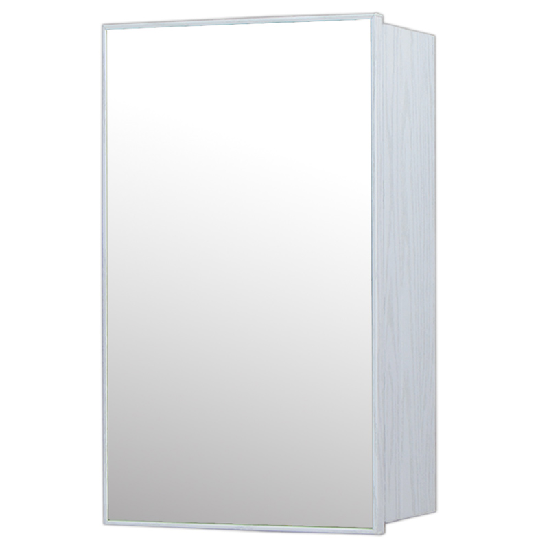 【送料無料】34x54cm白木目ミラー収納壁掛けキャビネット鏡防水化粧鏡 Ambest MQ7331 インテリアミラー 洗面所鏡 シンプルモダンミラー 浴室 トイレ ミラー鏡 壁掛け式 省スペース 木目 化粧鏡 壁掛け収納 防水
