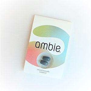 ambie ●スーパーSALE● セール期間限定 earpieceアンビー イヤーピース ワイヤレス 有線線共通 期間限定今なら送料無料 専用固定テープ付き