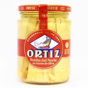 パスタやサラダにはこれ オルティス社 海外並行輸入正規品 高品質 ビンナガマグロのオリーブオイル漬 400g