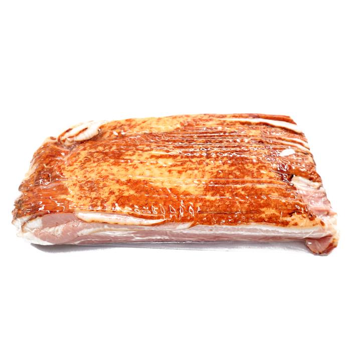 こだわり肉屋の燻製ベーコン 業務用ビッグサイズ こだわり燻製ベーコン 時間指定不可 記念日 2mmカット 1kg前後 ベーコンスライス