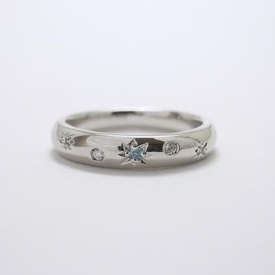 K18ホワイトゴールドリング・天然ダイヤモンド【ダイヤモンドリング】