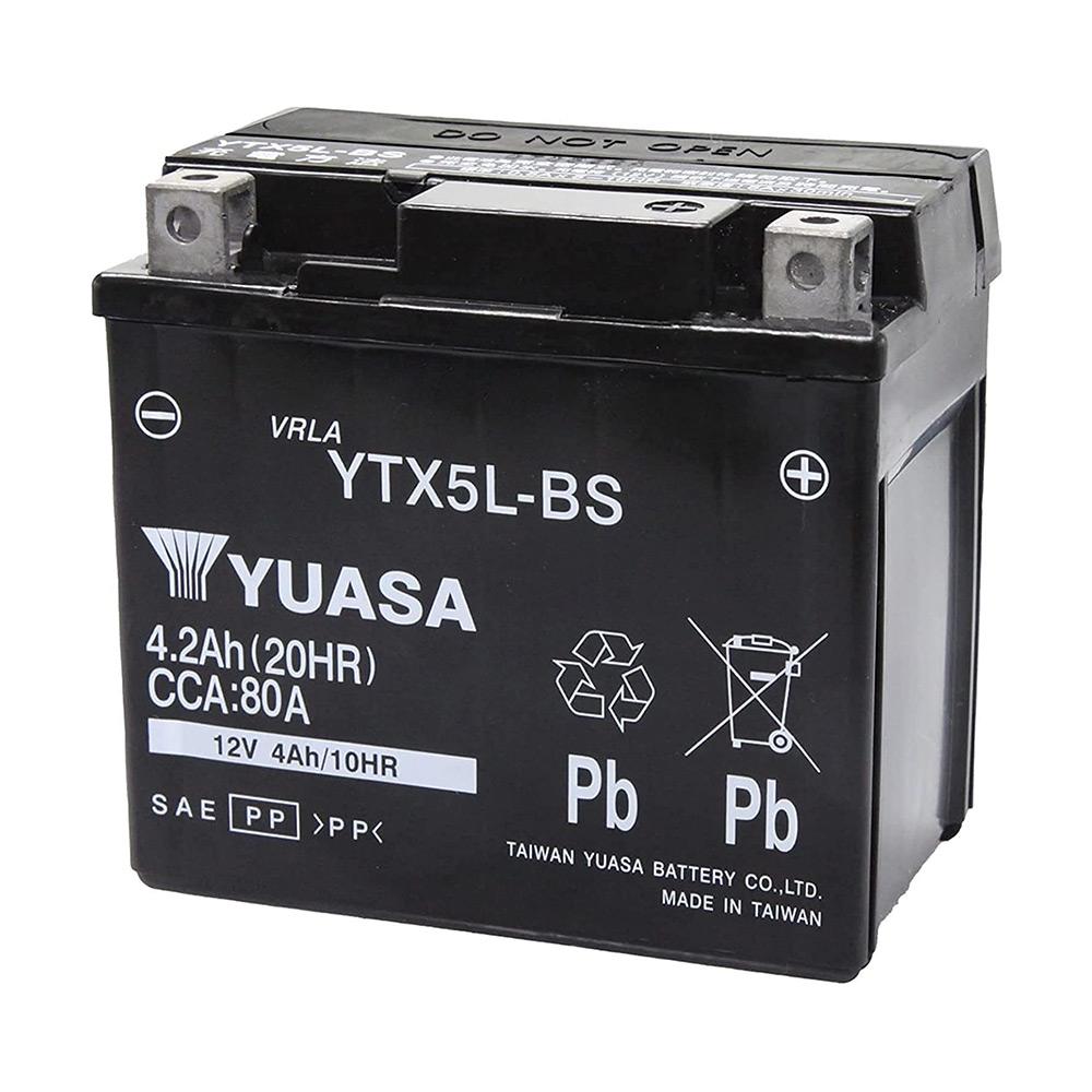 海外ヤマハやキムコなども純正採用している信頼のブランド PL保険 付き YTX5L-BS 台湾 yuasa ユアサ バイク バッテリー お買い得品 オートバイ GEL5L-BS 5L-BS NBC 傾斜搭載不可 GS 互換 YTX5LーBS FTX5L-BS RBTX5L-BS 制御弁式 永遠の定番 グランドアクシス 横置き不可 等 送料無料 DTX5L-BS KTX5L-BS