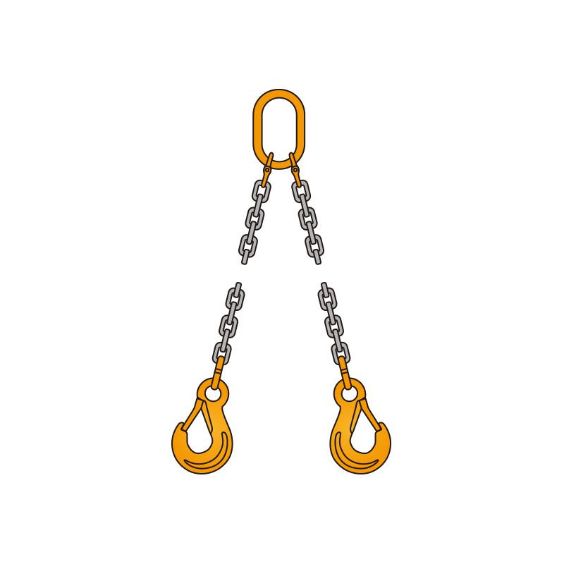 【 ペワッグ 】 2本吊り チェーンスリングセット 1.8t×2.0m