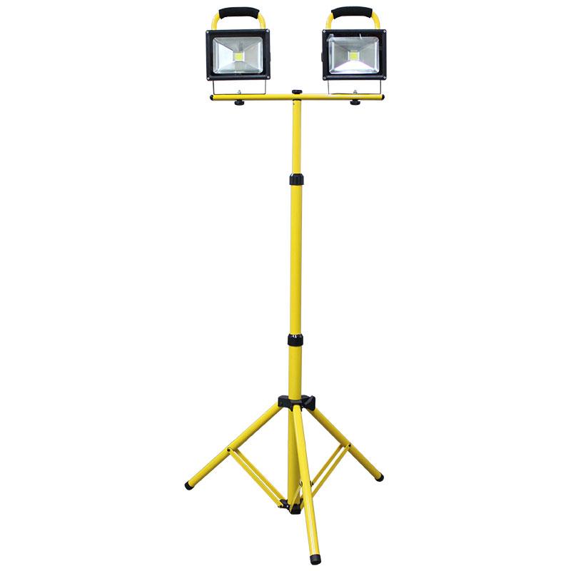 LED 充電式投光器 20W LC-T18C 三脚架 38840 ツールパワー
