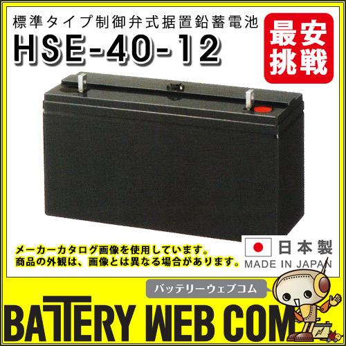 HSE-40-12 日立化成 日本製 産業 用 バッテリー HSEシリーズ 制御弁式据置鉛蓄電池 通信設備 消防用設備 UPS 自家発電始動用 受変電設備 非常照明 計装機器バックアップ 日立 新神戸電機 国産