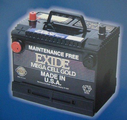 【 ポイント5倍 2018/08/04 20時~2018/08/09 2時 】 送料無料 EXD-EX58 エキサイド 自動車 用 バッテリー 2年保証 EXIDE Mega Cellシリーズ(米国車用) 車