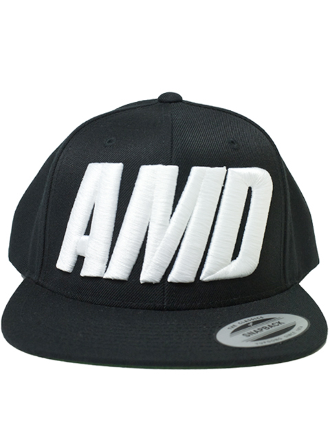 AMD Classic Snapback Cap Black snap back Cap Hat Black Atomic dope one size fits all