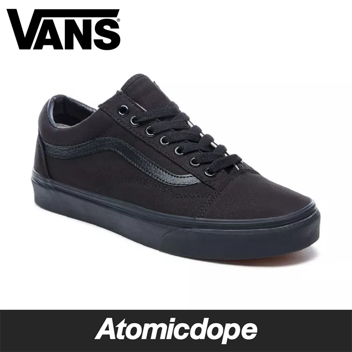 【送料無料】VANS OLD SKOOL スニーカー オールドスクール オールブラック 黒 靴 VN000D3HBKA SHOES Black CANVAS バンズ