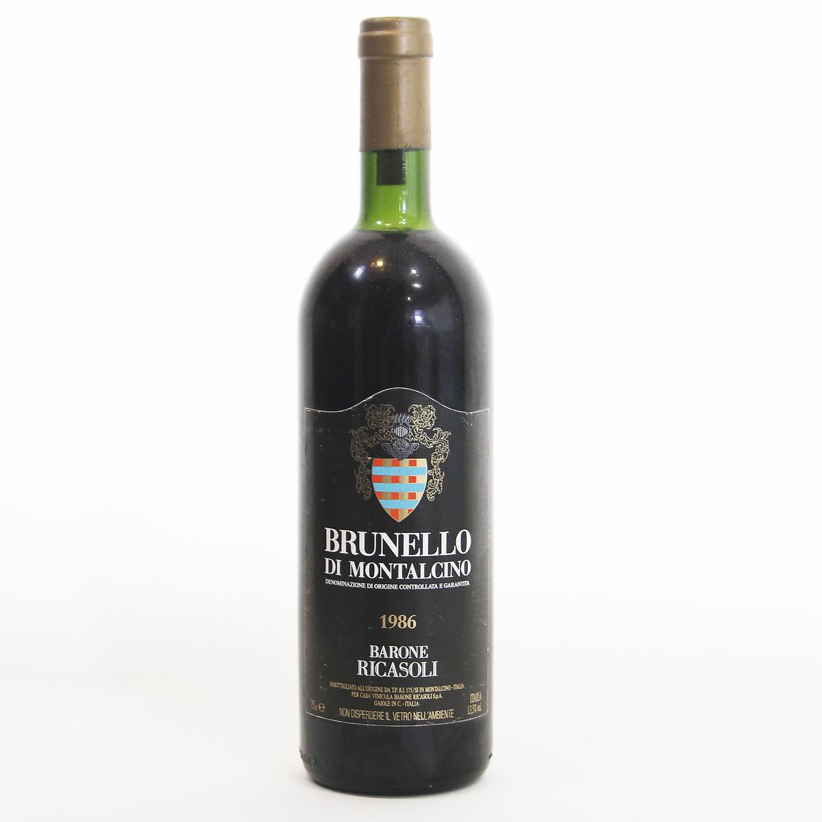 Brunello di Montalcino 1986 Barone Ricasoli ブルネロ・ディ・モンタルチーノ バローネ・リカソリ  イタリア トスカーナ州 モンタルチーノ村  赤ワイン 750ml