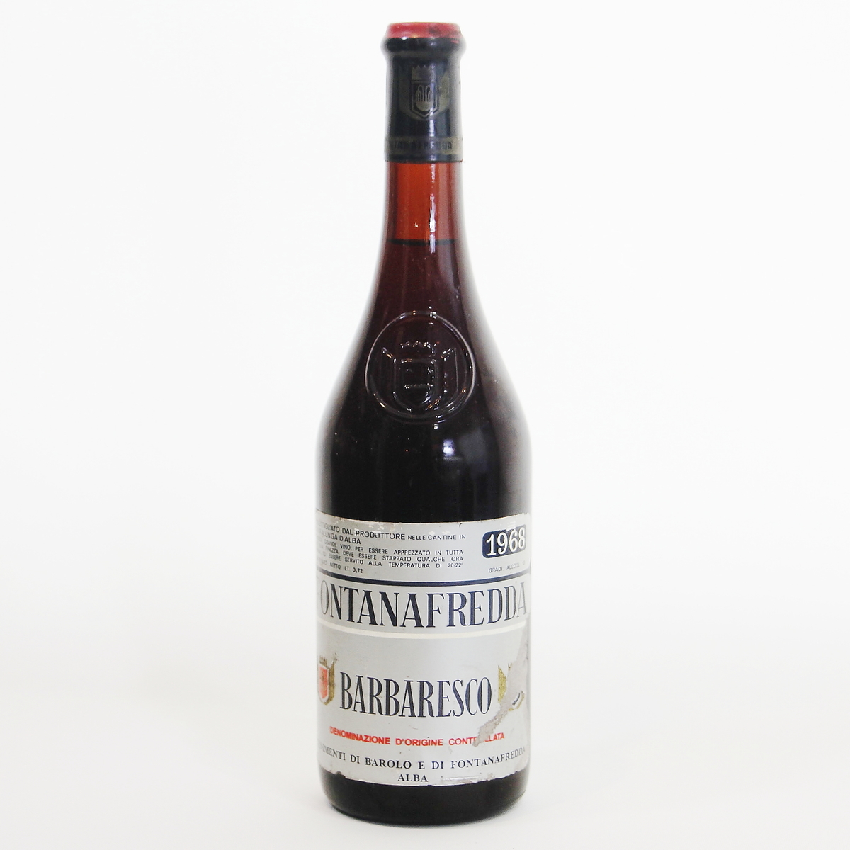 Barbaresco 1968 Fontanfredda  バルバレスコ  フォンタナフレッダ イタリア ピエモンテ州 750ml 赤ワイン