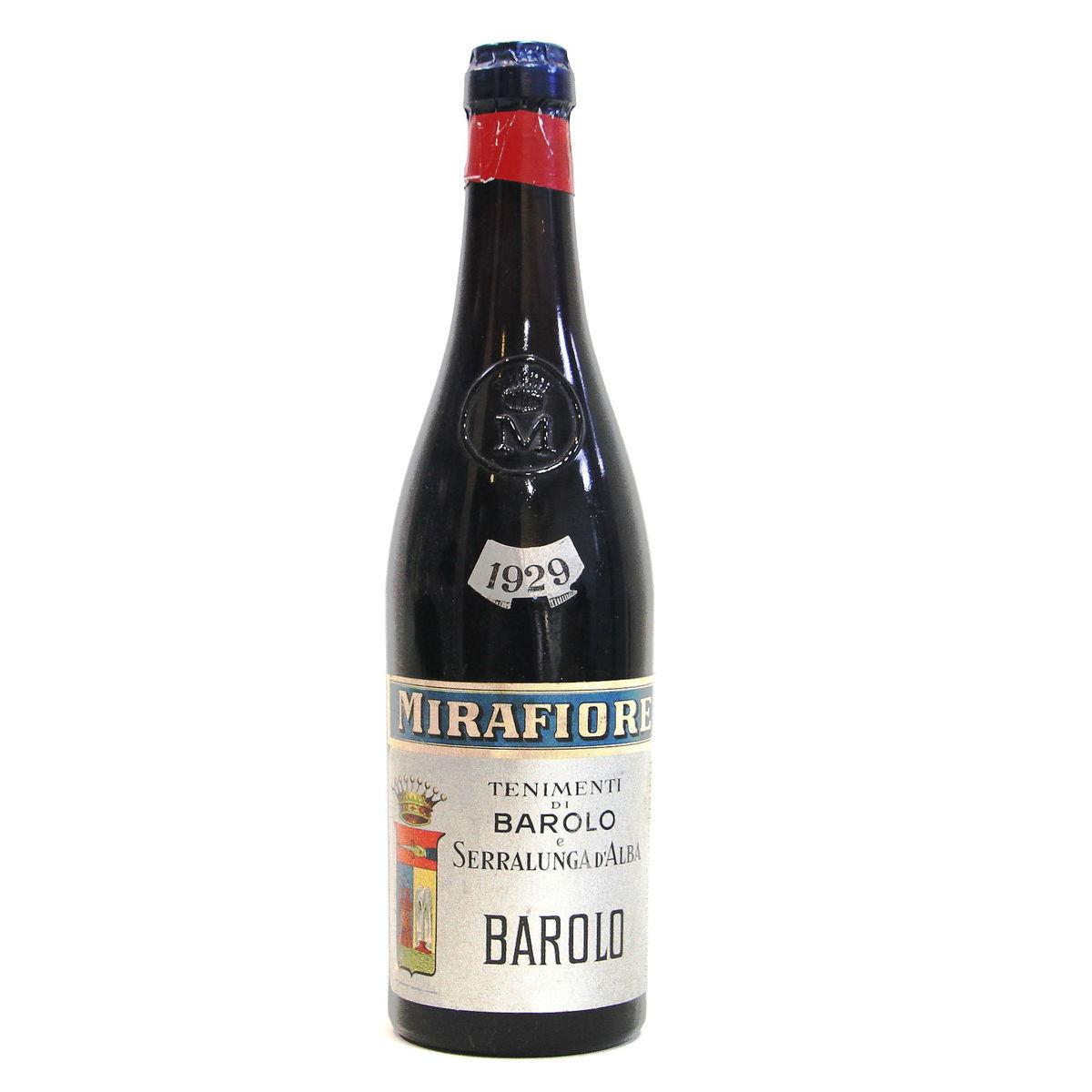 【1929年】バローロ セラルンガ・ダルバ ミラフィオーレ Barolo Seralunga d`Alba Mirafiore イタリア ピエモンテ州 赤ワイン 750ml