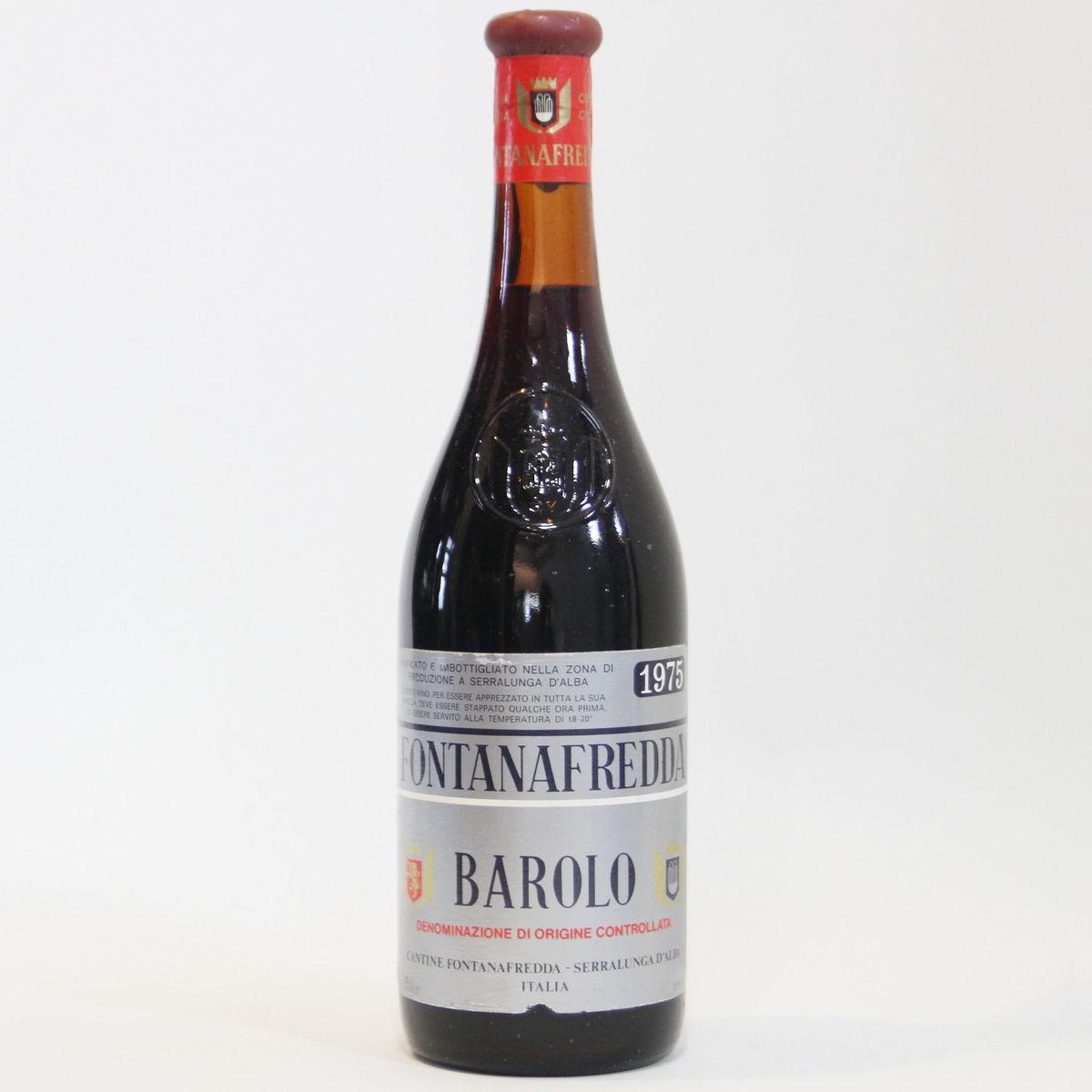 【1975年】バローロ フォンタナフレッダ Barolo Fontanafredda イタリア ピエモンテ 赤ワイン 750ml