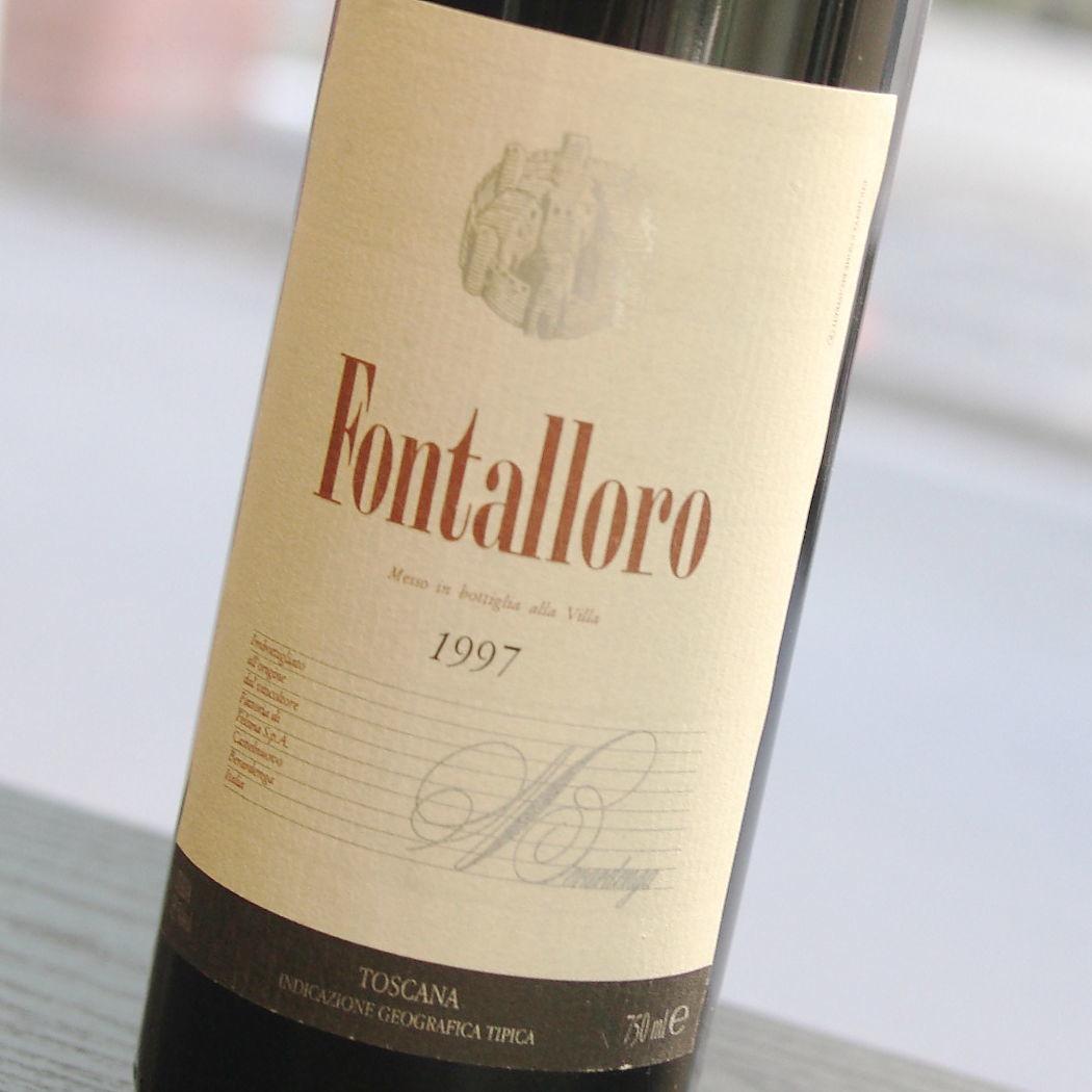【1997年】フォンタローロ フェルシナ Fontalloro Felsina サンジョヴェーゼ100% イタリア トスカーナ 赤ワイン 750ml