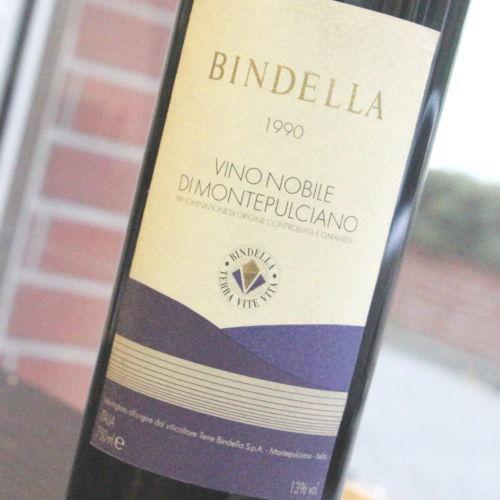 【1990年】ヴィ-ノ ノーヴィレ モンテプルチアーノ ビンデッラ Vino nobile montepulciano Bindella イタリア トスカーナ モンテプルチアーノ DOCG 赤ワイン 750ml