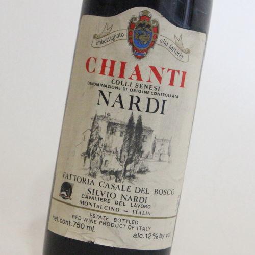 【1980年】キァンティ コッリ セネージ シルヴィオ・ナルディ Chianti Colli Senesi Silvio Nardi イタリア トスカーナ 赤ワイン 750ml
