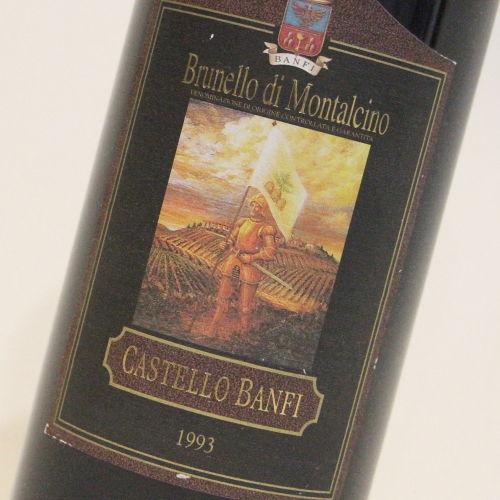 【1993年】ブルネッロ ディ モンタルチーノ カステッロ バンフィ Brunello di Montalcino Banfi イタリア トスカーナ州 赤ワイン 750ml
