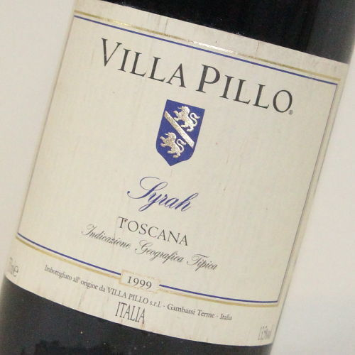 【1999年】シラー ヴィッラ ピッロ Syrah VILLA PILLO イタリア トスカーナ州 赤ワイン 750ml