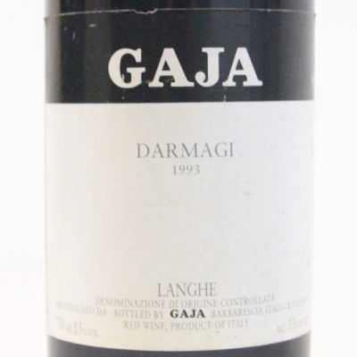 【1993年】ダルマジ ガヤ Darmagi Gaja イタリア ピエモンテ 赤ワイン カベルネ メルロー 750ml