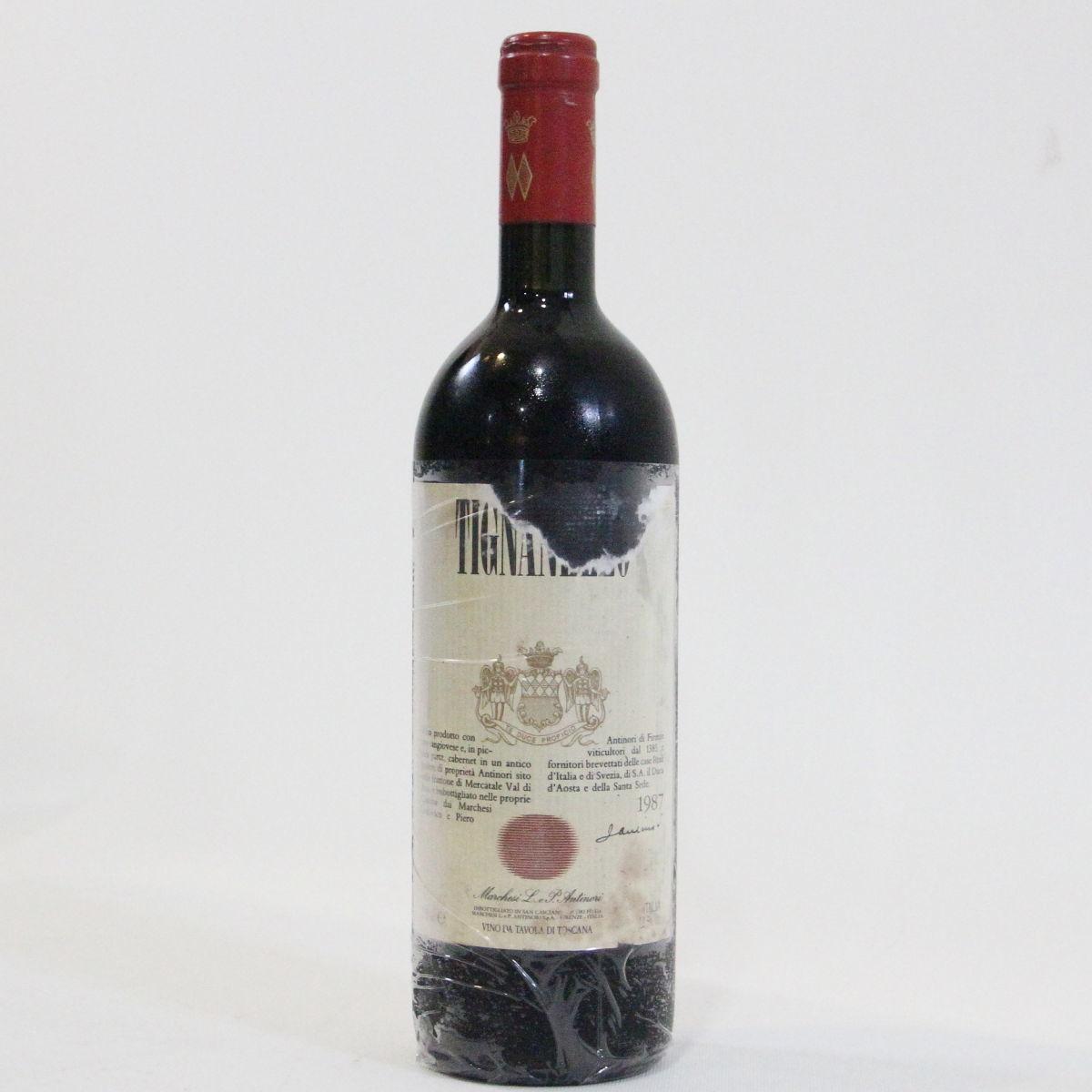 【1987年】ティニャネッロ アンティノーリ Tignanello Antinori イタリア トスカーナ サンジョヴェーゼ カベルネ 赤ワイン 750ml