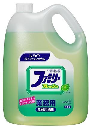 【送料無料】食器用中性洗剤 ファミリーフレッシュ 業務用 4.5リットル×4本