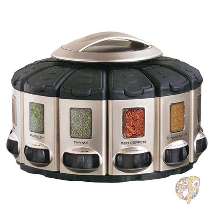 マーケティング 激安通販販売 自動計量機能付きスパイスケースセット KitchenArt キッチン用品 57010COM 12ケースセット