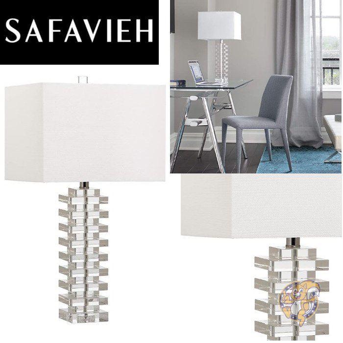 エレガントでおしゃれなテーブルランプでお部屋を照らします 保証 Safavieh サファヴィア テーブルライト マーケティング クリスタル 67.3cm