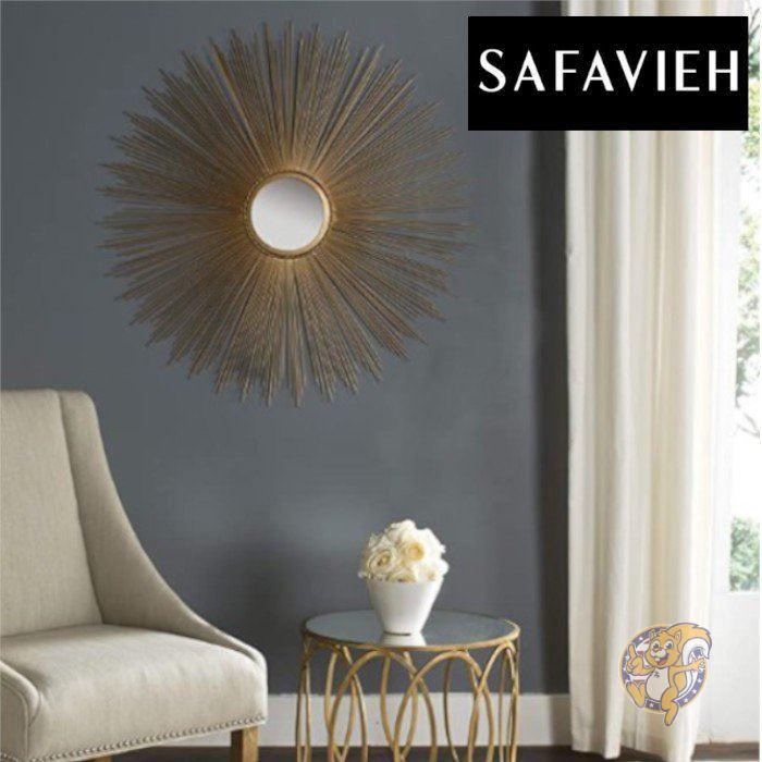 クラシカルな雰囲気のウォールミラー Safavieh ウォールミラー 壁掛け 101.6cm 最安値 ゴールド 鏡 安売り