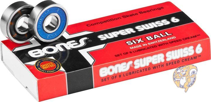 メーカー直売 スケートボードベアリング6個8パックセット Bones 安い スイス