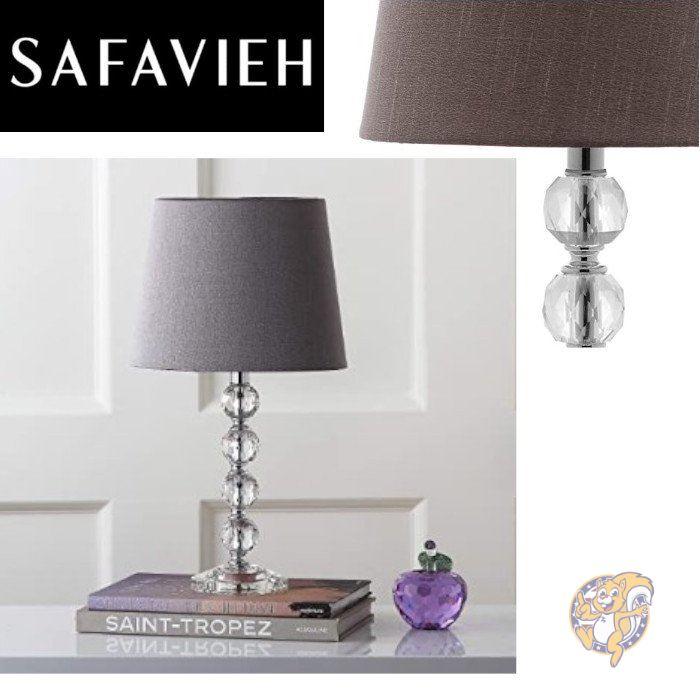 エレガントでおしゃれなテーブルランプでお部屋を照らします Safavieh サファヴィア 年間定番 テーブルライト 40.6cm 新着セール Clear Grey
