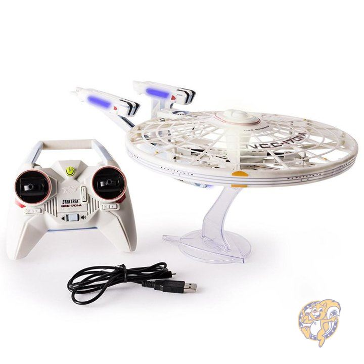 Air Hogs, Star Trek U.S.S Enterprise NCC-1701-A, Remote Control Vehicle with Lights and Sounds, 2.4 GHZ, 4 Channel 並行輸入品