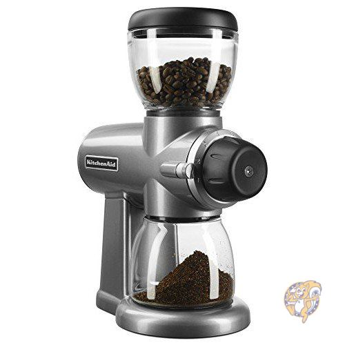 《週末限定タイムセール》 キッチンエイド KitchenAid アメリカ発人気キッチン用品 KCG0702CU 並行輸入品 コーヒーミルシルバー 激安通販 コーヒーグラインダー