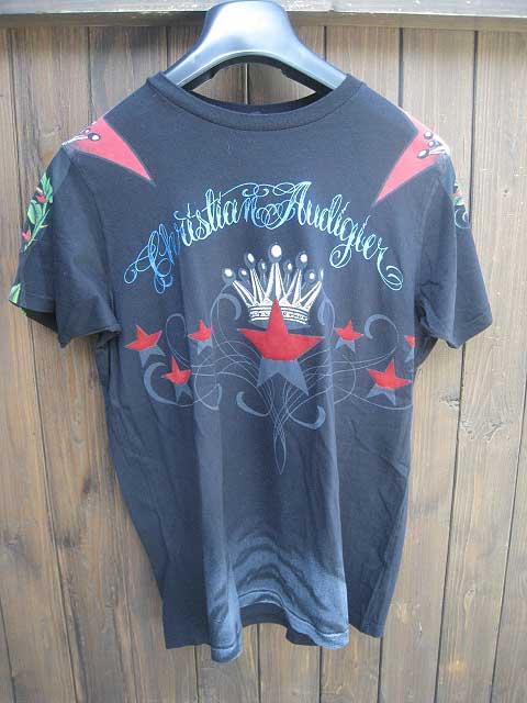 CHRISTIAN AUDIGIER/クリスチャンオードジェーSTAR Tシャツ black