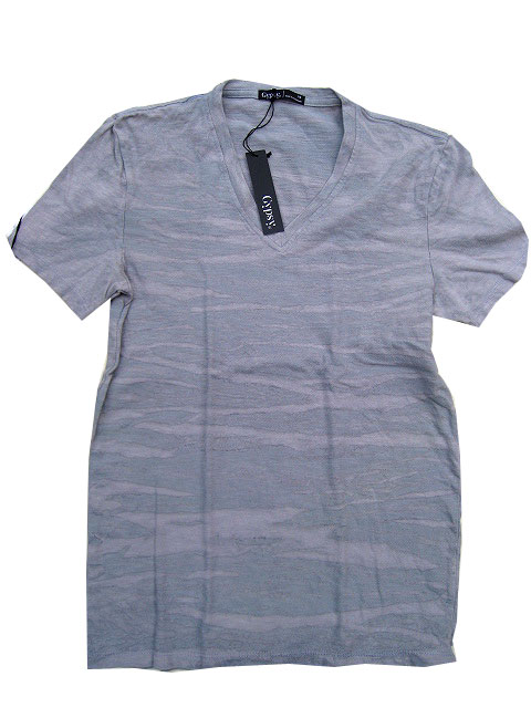 GYPSY05/ジプシーメンズVネックTシャツl.grey