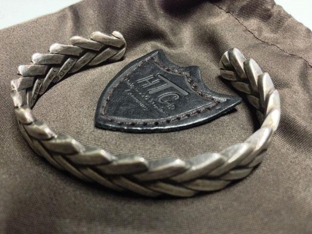 HTC ITALYエイチティーシーイタリーバングル(真鍮)silver