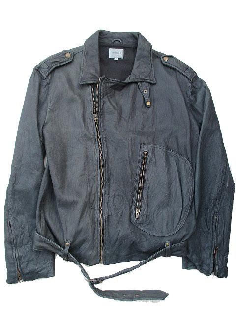 ACOUSTICアコースティックライダースレザージャケット black