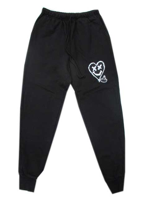 DOM REBEL/ドムレーベルLOVERBOY JOGGING PANTS black スェットパンツ
