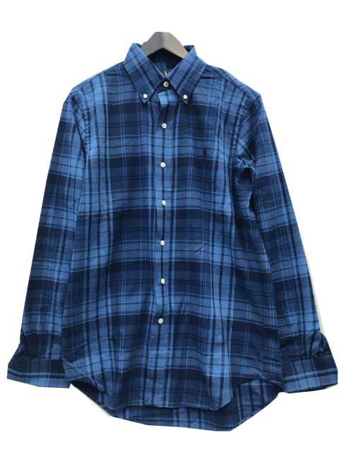 POLO RALPH LAUREN/ラルフローレンフランネルボタンダウンチェックシャツ navy/blue