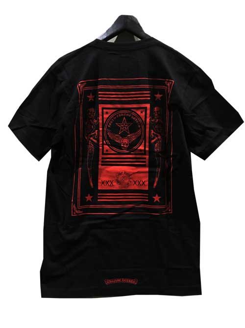 MLサイズCHROME HEATRSクロムハーツFOTI Tシャツblack/red