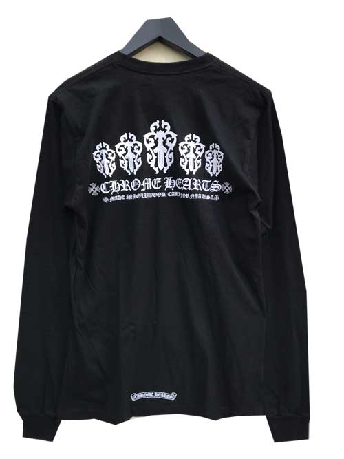 CHROME HEARTS/クロムハーツオリジナルボディーロングスリーブTシャツ ダガーblack