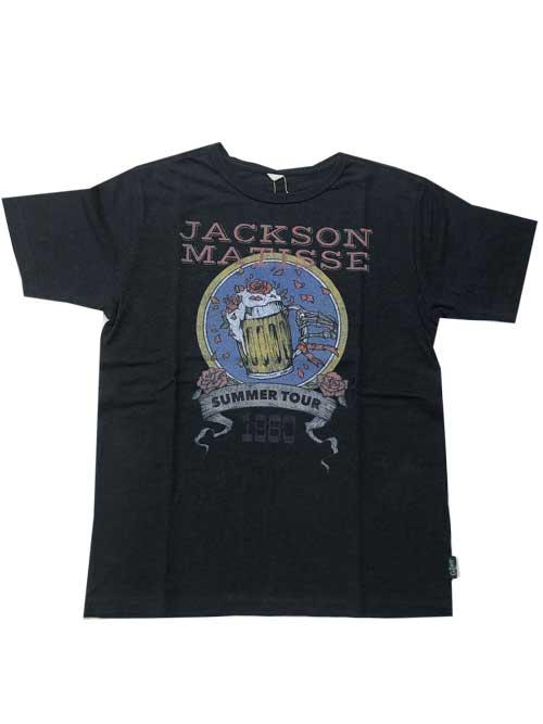 JACKSON MATISSEジャクソンマティスGO HEMP×JM 80'S STYLE LOGO  Tシャツ black