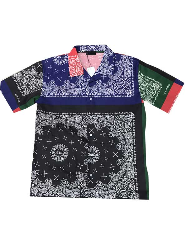 NCS NOT COMMON SENSEノットコモンセンスSCARF PRINTED ペイズリーシャツ1 Lサイズ