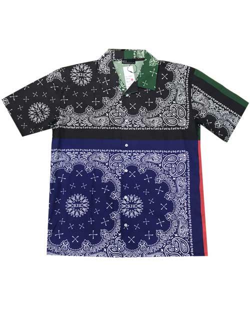 NCS NOT COMMON SENSEノットコモンセンスSCARF PRINTED ペイズリーシャツ4 XLサイズ