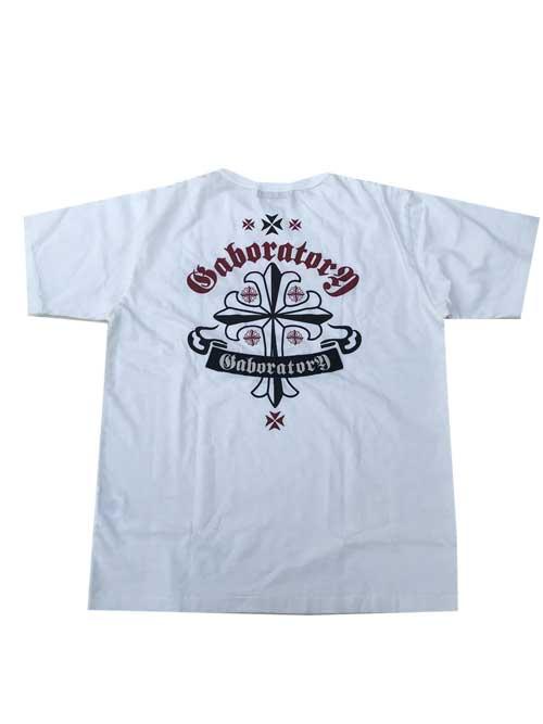 GABORATORYガボラトリー ガボールGABORATORYCROSS Tシャツ white