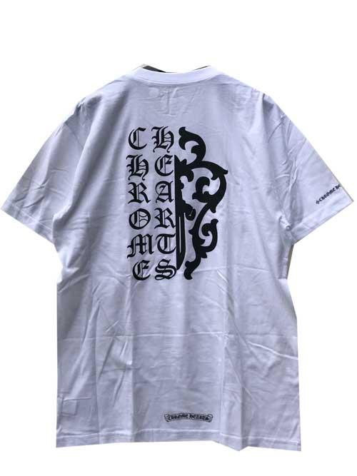 MLXLサイズCHROME HEATRSクロムハーツハーフグラフィックTシャツwhite