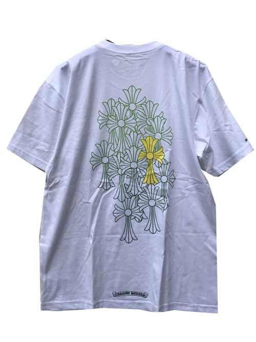 CHROME HEATRSクロムハーツクロスTシャツwhite/green